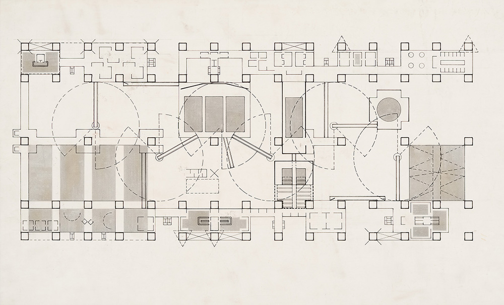 Cedric Price, Fun Palace: typical plan, 1963.  Image courtesy of Cedric Price fonds, Collection Centre Canadien d'Architecture/Canadian Centre for Architecture, Montréal.
