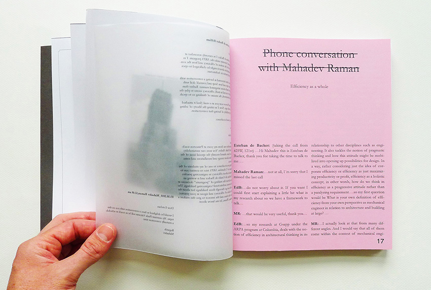 Book page. Photo courtesy of Esteban de Backer.