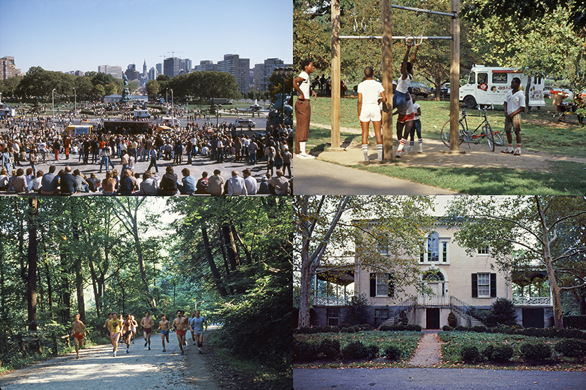 Denise Scott Brown, Fairmount in the Cultural Landscape, Penn 1983.  Research photographs of the many landscapes that coexist in one park. Image courtesy of Denise Scott Brown.