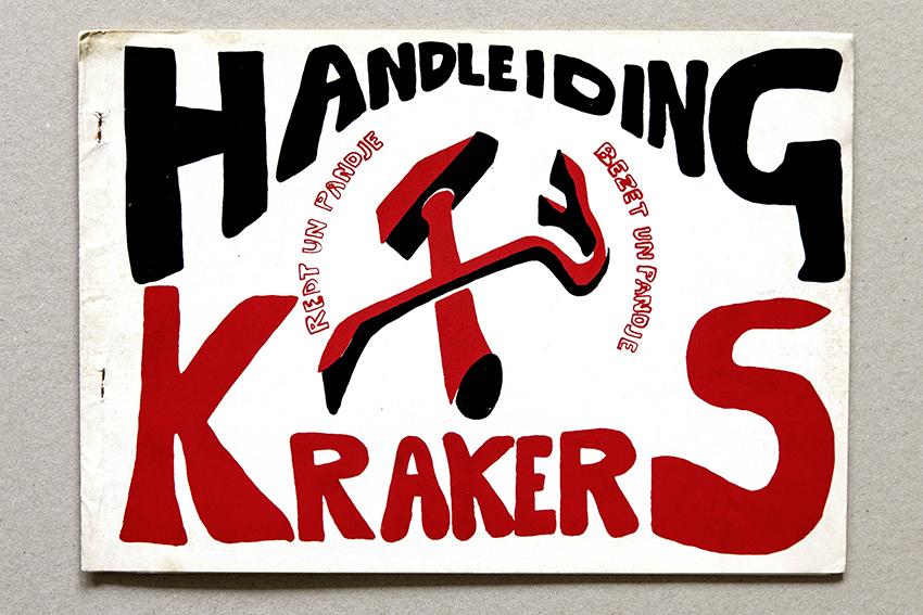 Book cover, Handleiding Krakers (Amsterdam: Federatie Onafhankelijke Vakgroepen & Buro de Kraker, 1969).