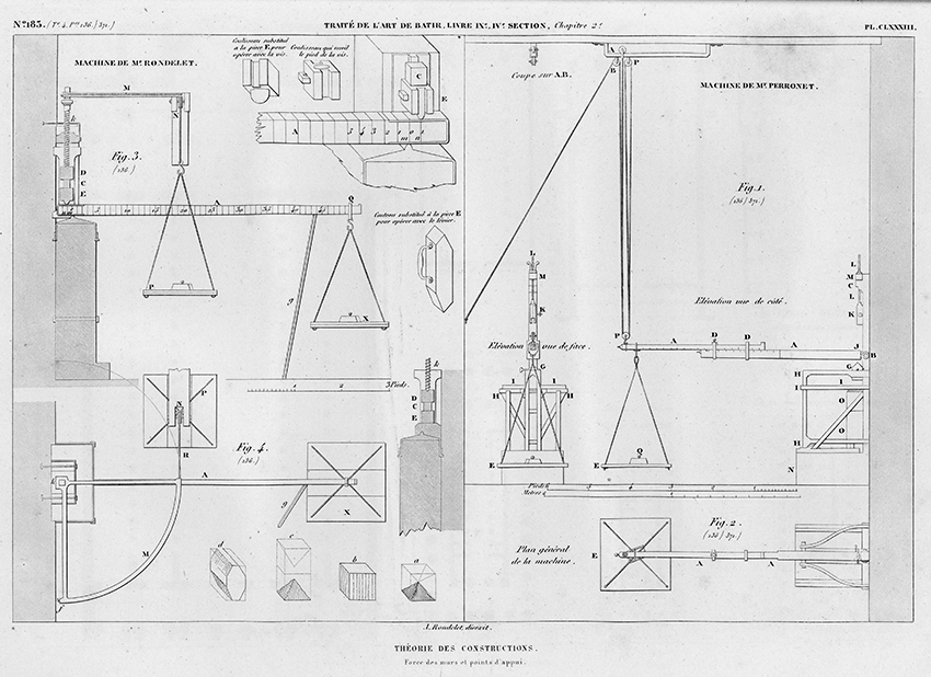 Theorie des Constructions, Force des murs et point d'appui. Strength of Walls and Supporting Points from Traité théorique et pratique de l'art de bâtir (Paris : Chez l'auteur, 1812).