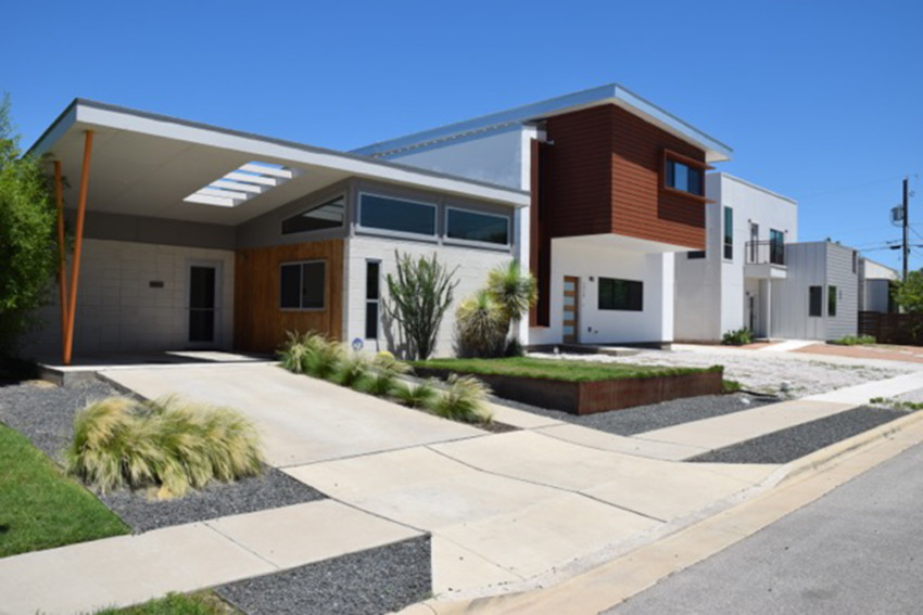 A Solutions Oriented Living (SOL) house by KRDB in Austin, TX. Courtesy of Chris Krager.