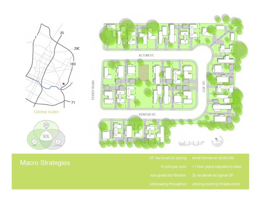 The site plan for the SOL community by KRDB in Austin, TX. Courtesy of Chris Krager.