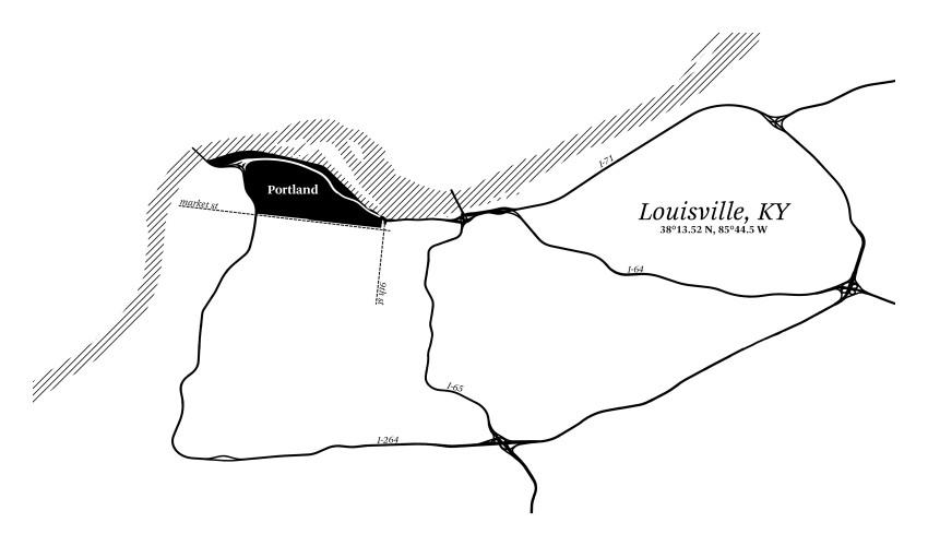 Louisville Map.