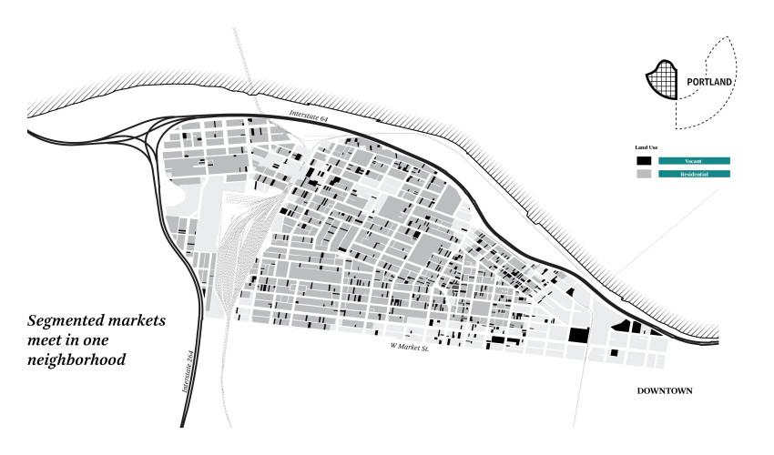 Portland Vacant Parcel Map.